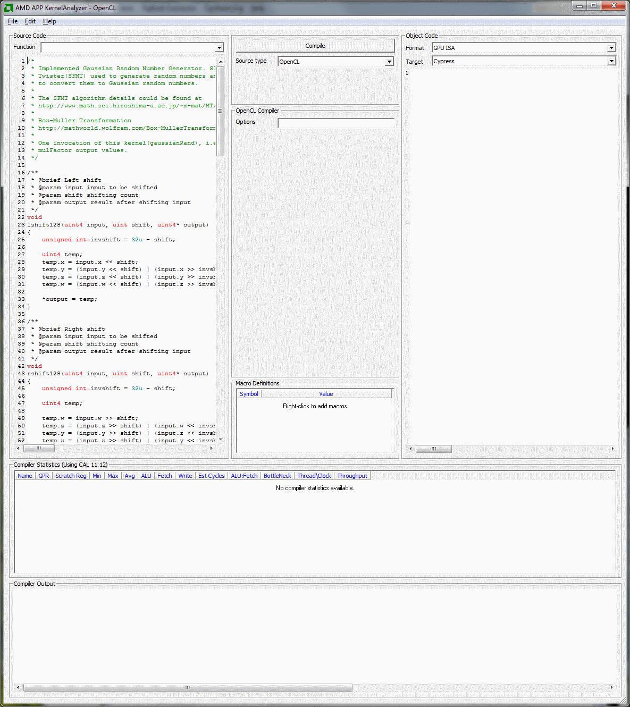 AMD APP KernelAnalyzer