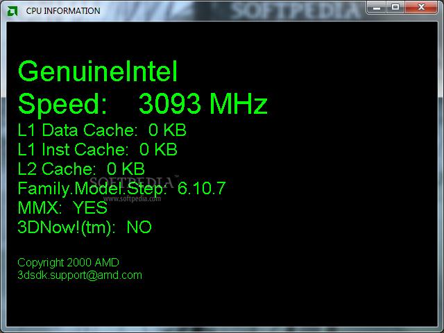 AMD CPU Information Display Utility