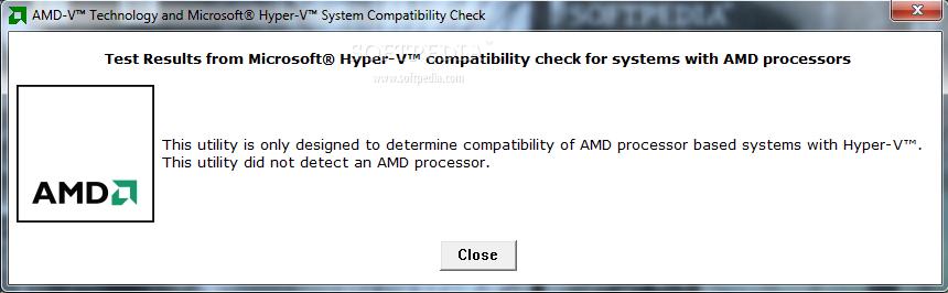 AMD-V Technology and Microsoft Hyper-V System Compatibility Check