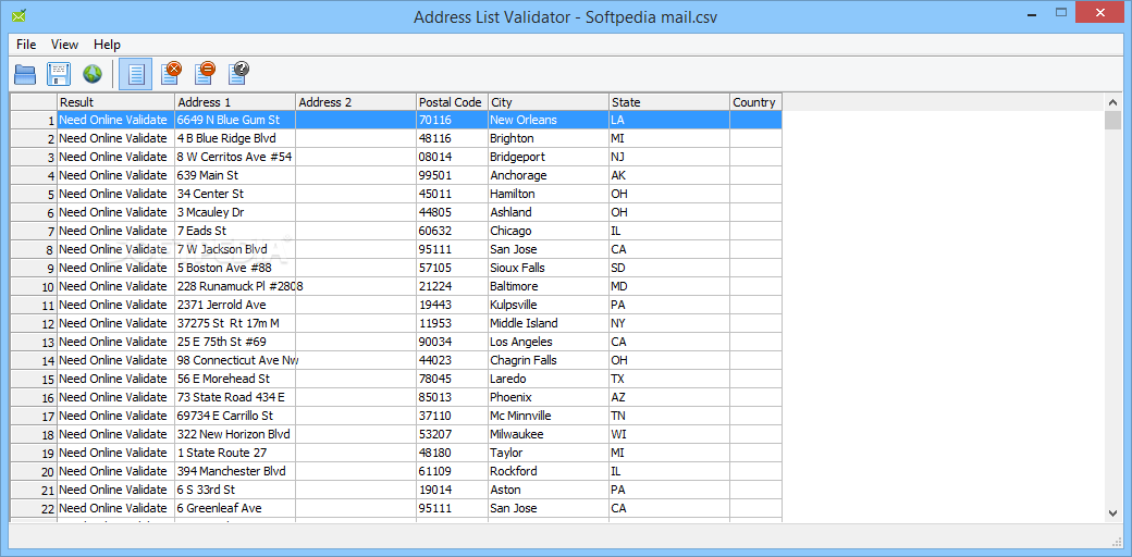 Address List Validator