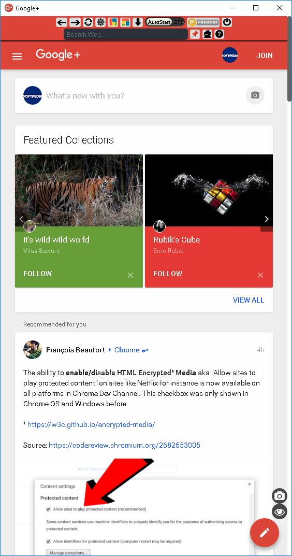 App for Google+