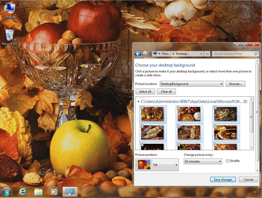 Autumn Bounty Theme
