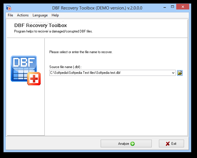 DBF Recovery Toolbox