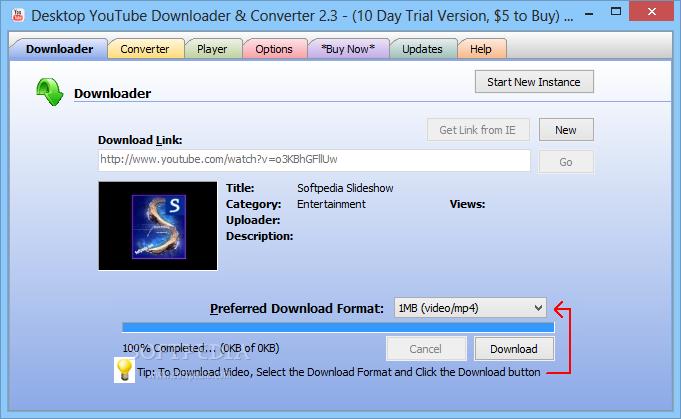 Desktop YouTube Downloader & Converter (formerly Desktop YouTube)