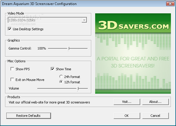 Dream Aquarium 3D Screensaver