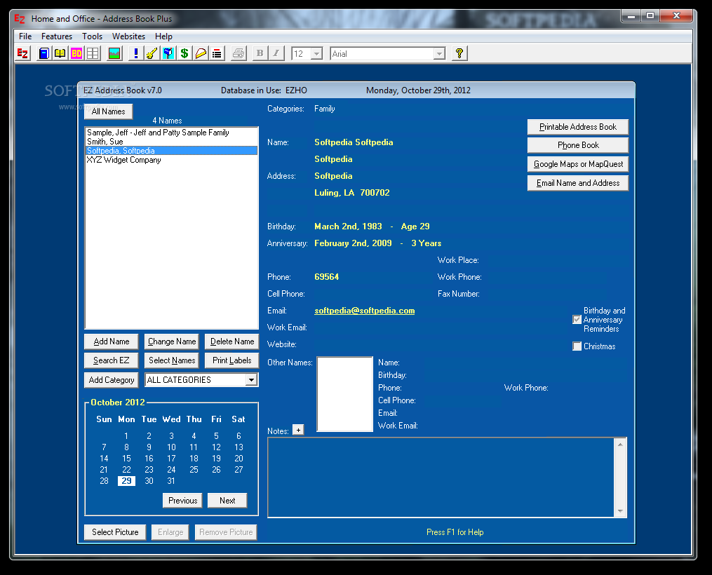 Home and Office - Address Book Plus