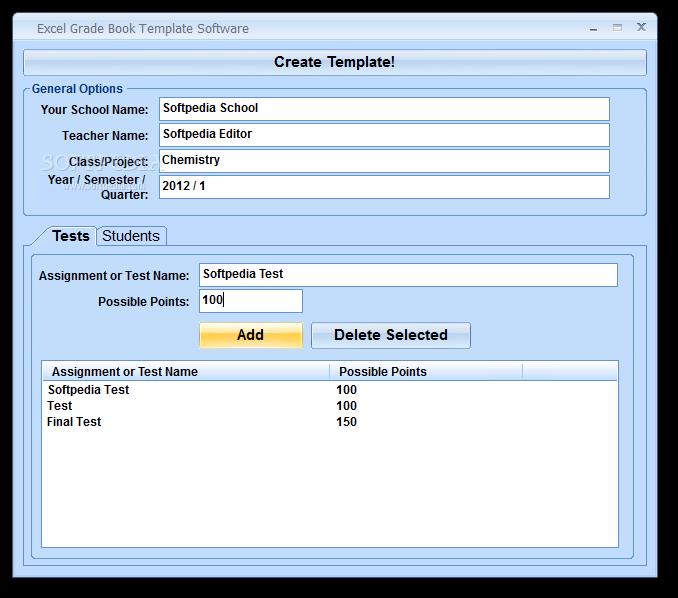 Excel Grade Book Template Software