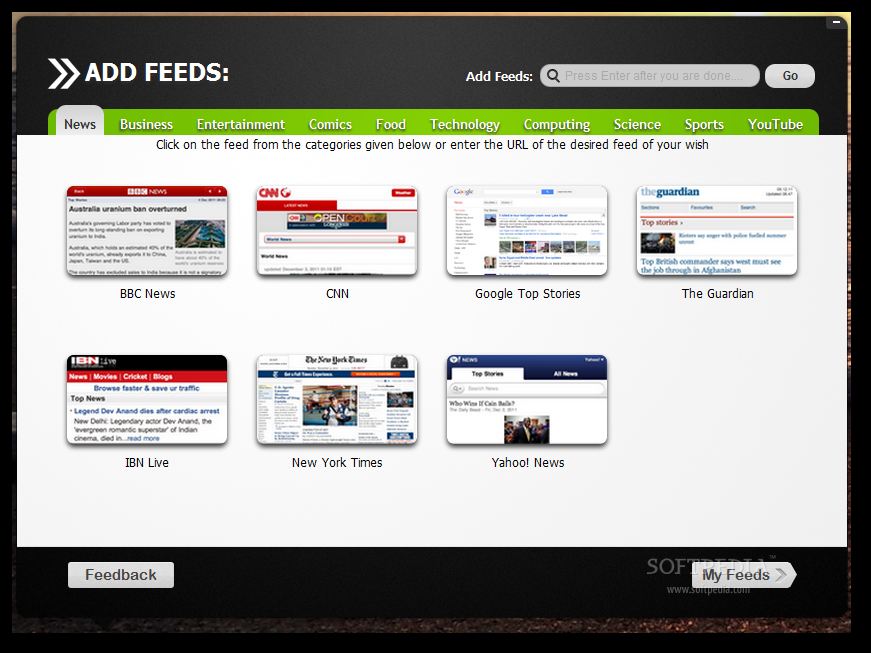 Feed Reader for Pokki