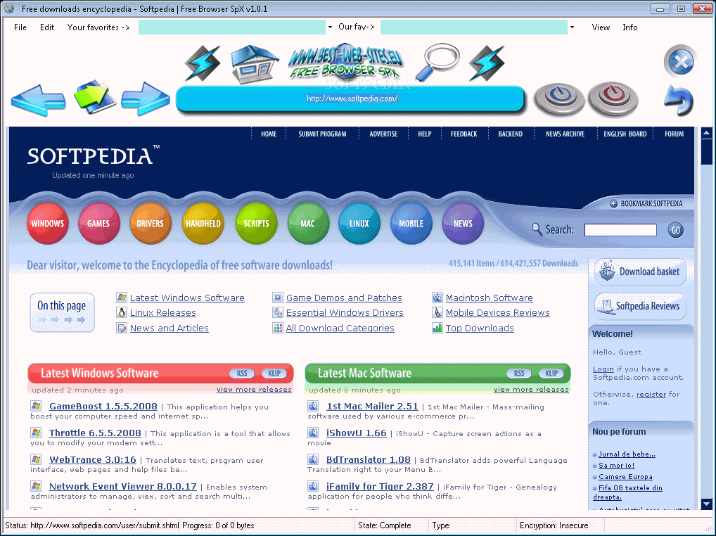 Free Browser SpX