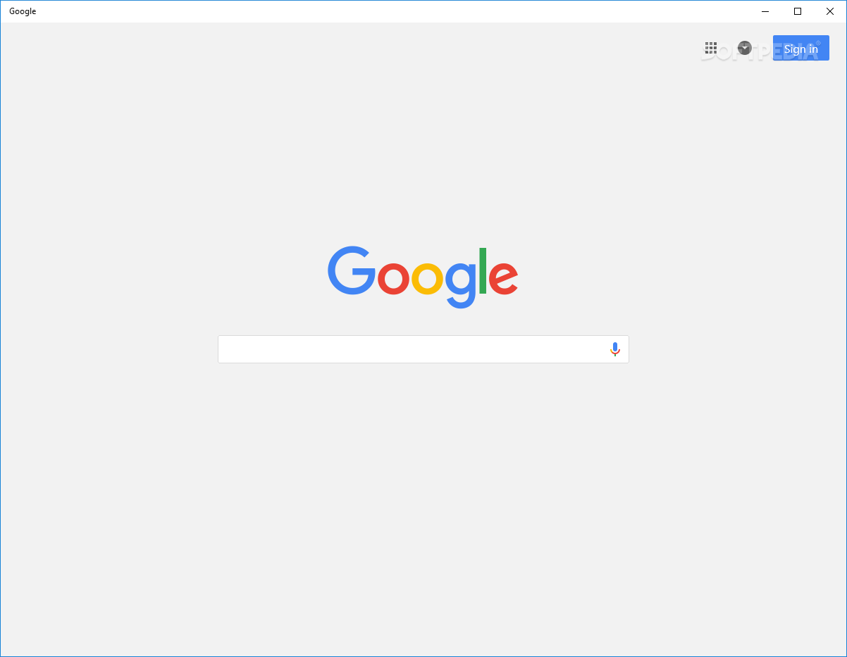 Google Search for Windows 10