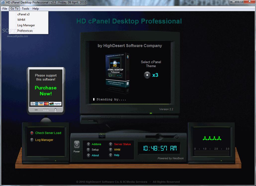 HD cPanel Desktop Professional