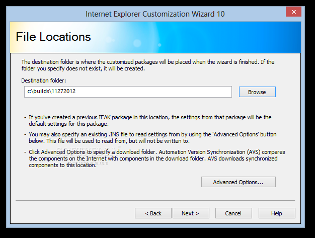 Internet Explorer Administration Kit