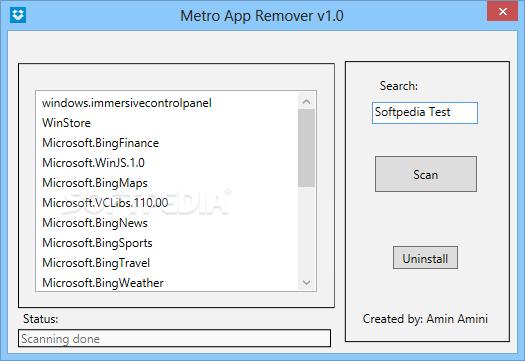 Metro App Remover