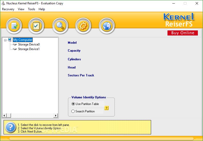 Nucleus ReiserFS Linux Partition Recovery