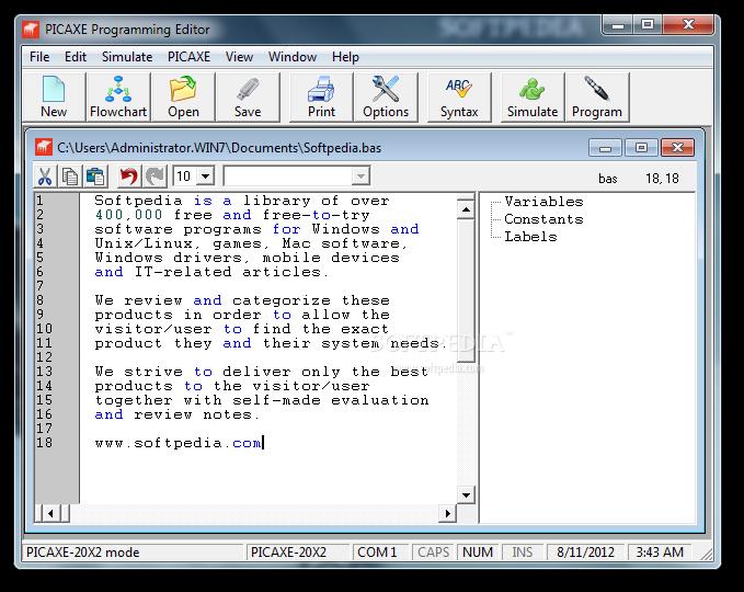 PICAXE Programming Editor