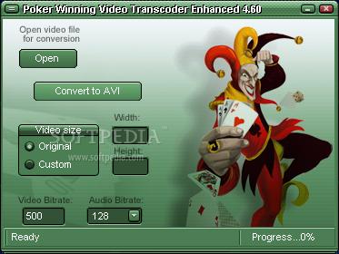 Poker Winning Video Transcoder Enhanced