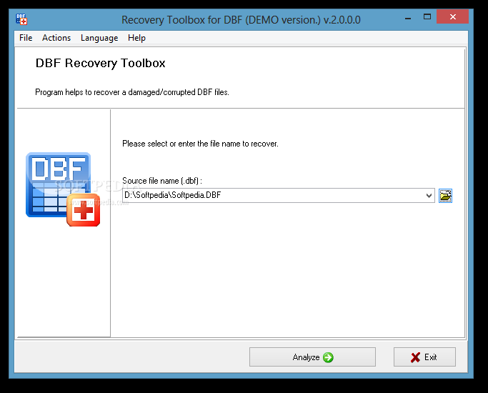 Recovery Toolbox for DBF