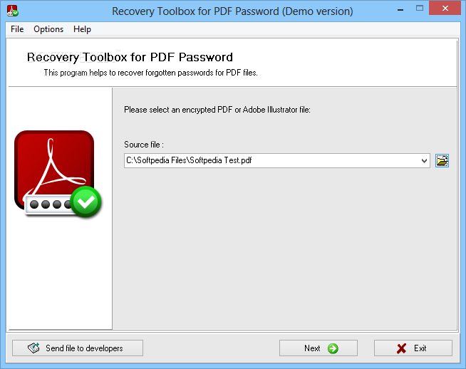 Recovery Toolbox for PDF Password