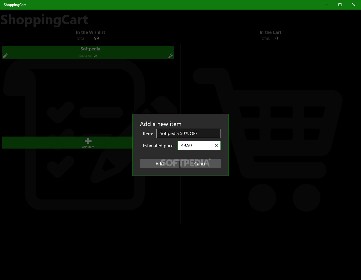 ShoppingCart Store App