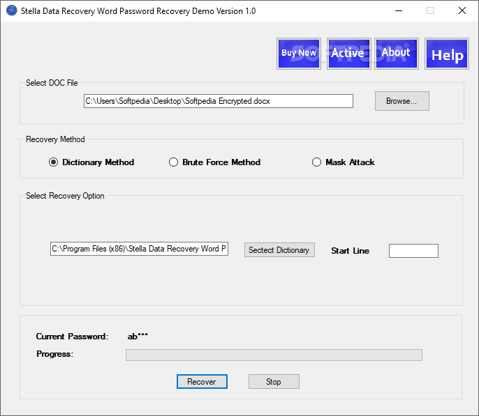 Stella Data Recovery Word Password Recovery