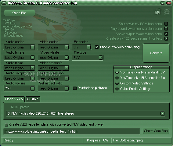 Video to Stream FLV video converter