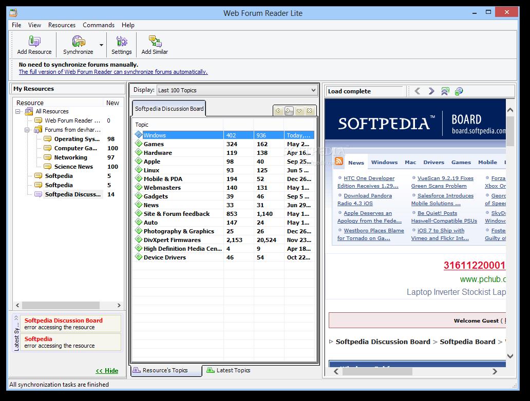 Web Forum Reader Lite