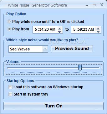 White Noise Generator Software