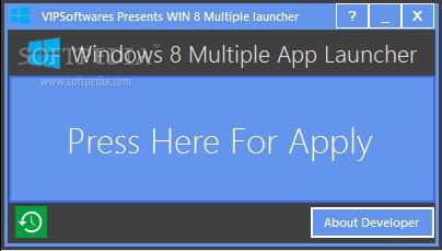 Windows 8 Multiple App Launcher